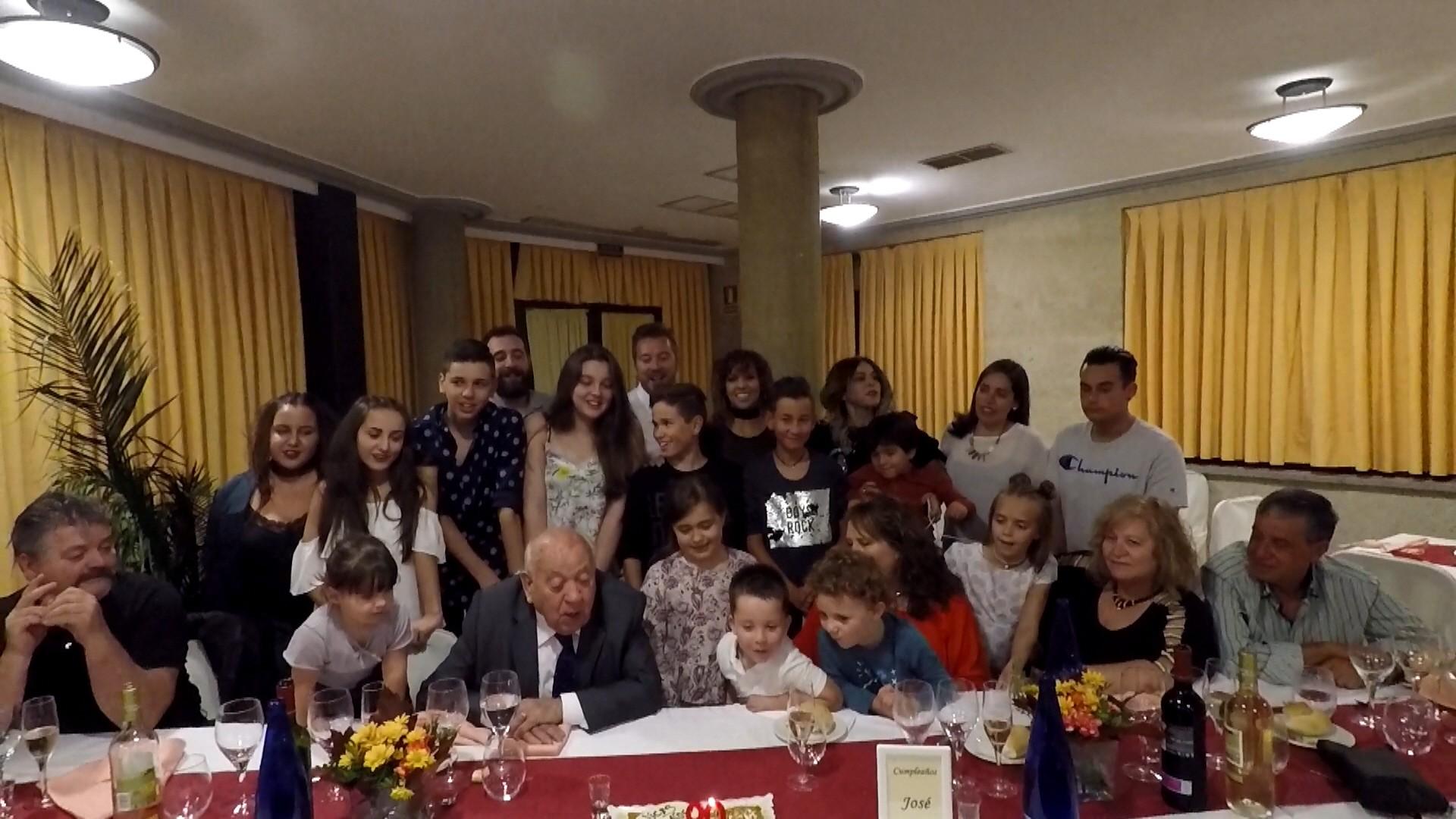 Celebración del 90 cumpleaños de nuestro socio de honor José Hernández Santa Úrsula